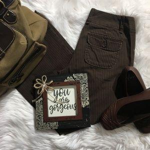 Gap Brown Striped Dress Pants Size 6